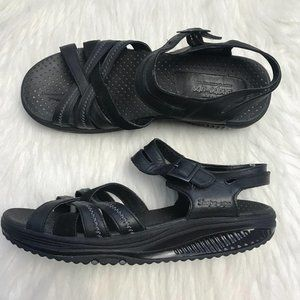 Sketchers Black Shape Up Sandals Size 8.5